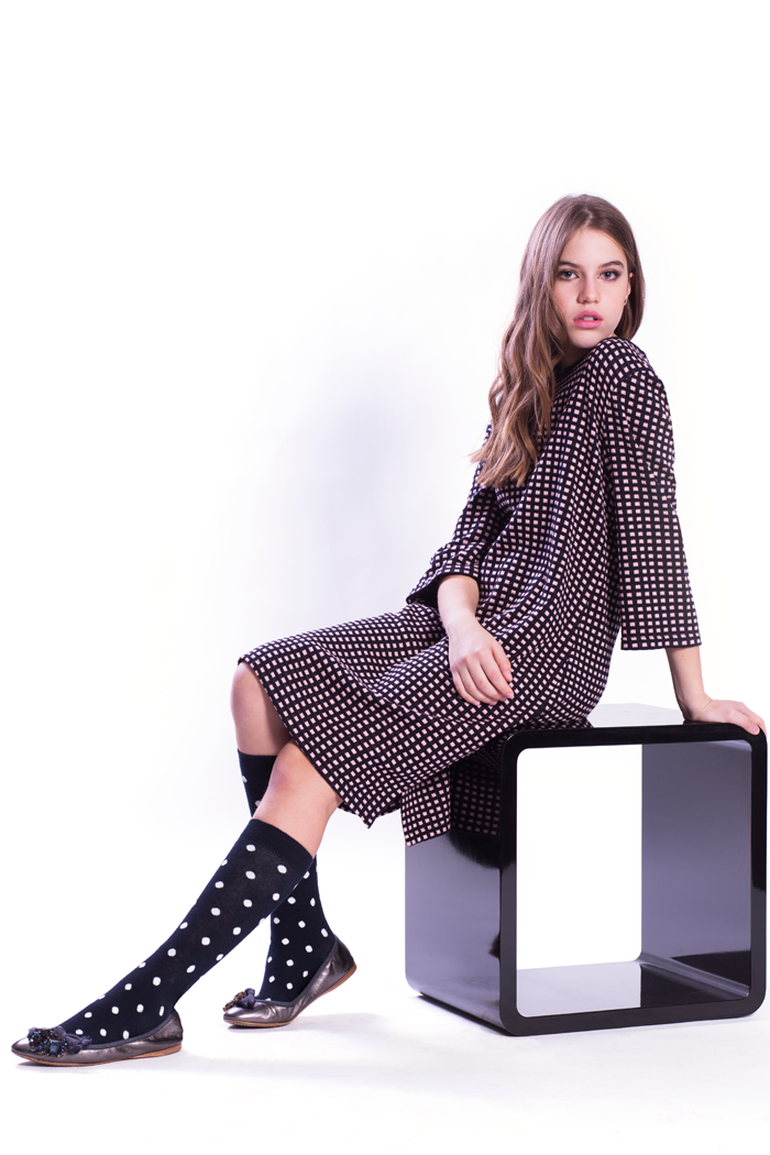 Mini Boxes Jacquard Dress