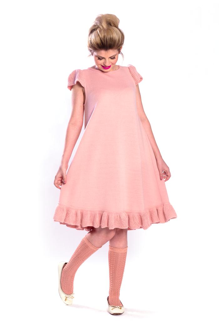 Cap Sleeve Ruffle Bottom Dress