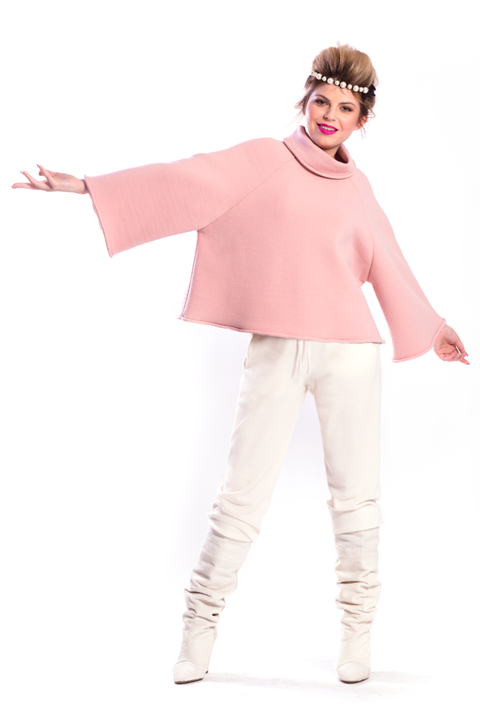 Raglan Sleeve Short Top and Drawstring Waist Knit Pants
