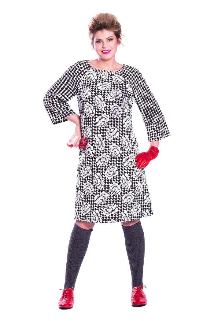 Mix Jacquard Patterns Dress