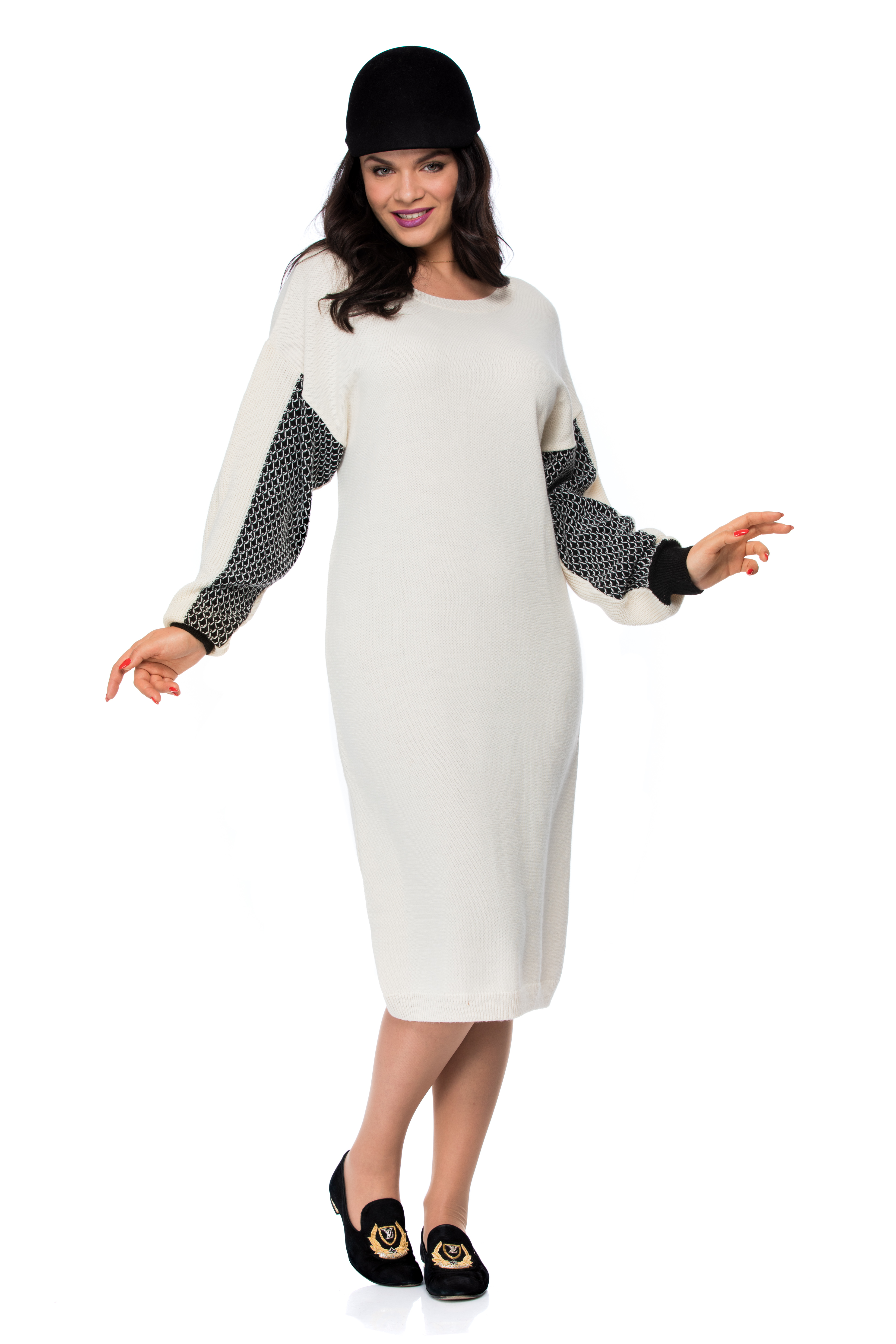 1f4025ce1c OVERSIZED DRESS WITH CONTRAST TRIM SLEEVE